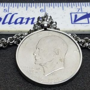 Vintage 1976 Eisenhower Dollar Necklace
